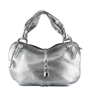 Celine bittersweet bag metallic silver